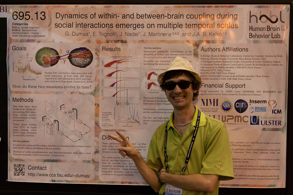 'Dynamics of within- and between-brain coupling during social interactions emerges on multiple temporal scales' at SfN 2012