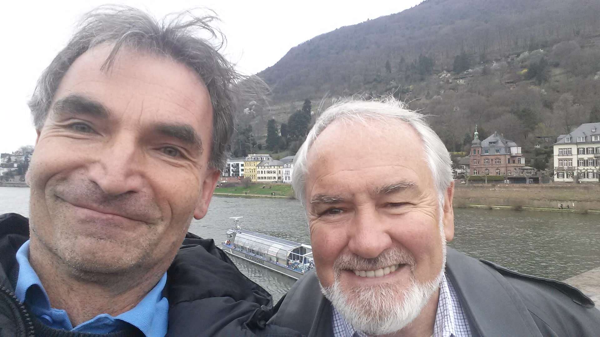Dr. Ditzinger (left) and Dr. Kelso (right)  at Philosophenweg